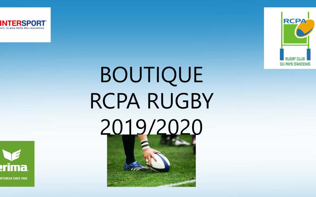 La boutique version 2019-2020 est lancée!