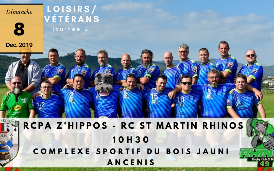 Les Z'hippos recoivent les Rhinos!