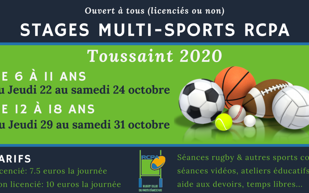 Stage multi-sports RCPA