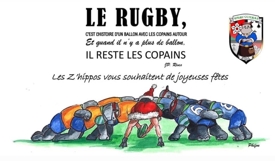 Les Z'hippos du RCPA vous souhaitent de joyeuses fêtes 🦛