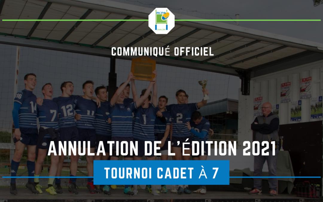Covid-19 vs Tournoi cadet: 2-0
