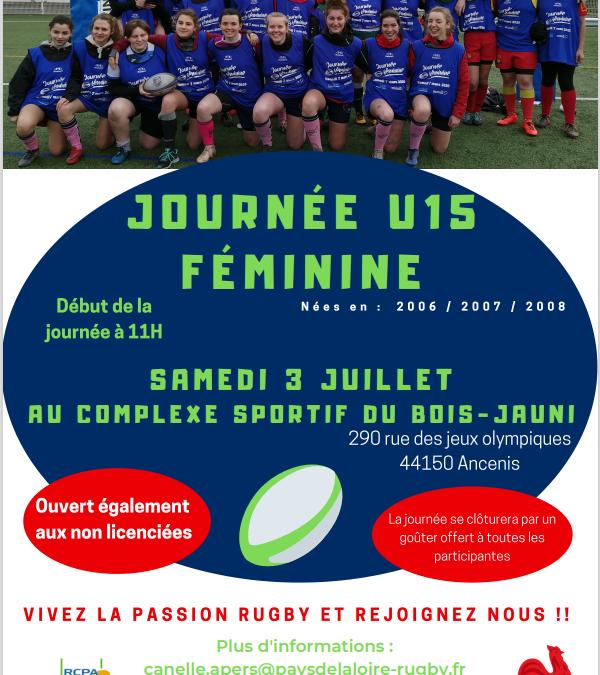 Stage de rugby féminin au Bois Jauni !